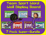 PE Word Wall Display Boards- 7 Pack, Team Sport Super Bundle