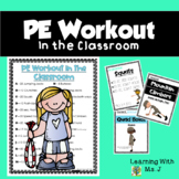 PE Workout in the Classroom