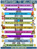"PE and Health Poster: Countdown to Wellness- Daily ""Action"