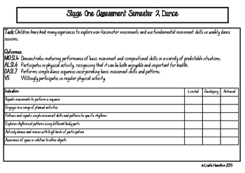 PE assessment tool Stage One