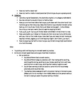 P.E. skills practice tips for parents