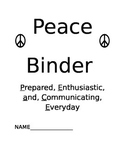 PEACE Binder Cover