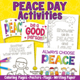 PEACE DAY Activities - Coloring Pages, Posters, Peace Flag