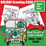 PEACE Christmas Holiday Greeting Card Coloring & Construction Activity