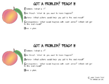 PEACH It Problem Solving Strategy