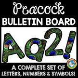 PEACOCK THEMED CLASSROOM DECOR (PEACOCK BULLETIN BOARD LET