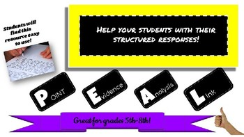 PEAL Paragraph Sentence Starters and Rubric