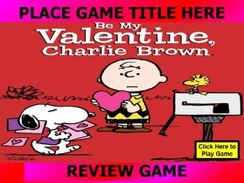 PEANUTS, CHARLIE BROWN SNOOPY VALENTINE REVIEW GAME TEMPLATE POWERPOINT