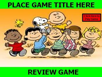 PEANUTS, Charlie Brown, Snoopy Review Game Template POWERPOINT