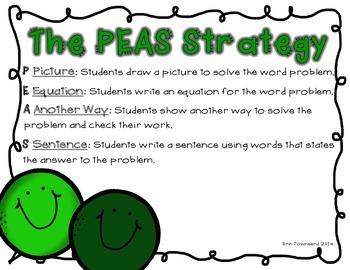 PEAS Math Word Problem Strategies Posters