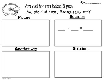 PEAS Strategy Math Story Problems