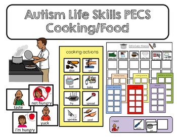pecs autism life skills food and cooking communication cards and boards