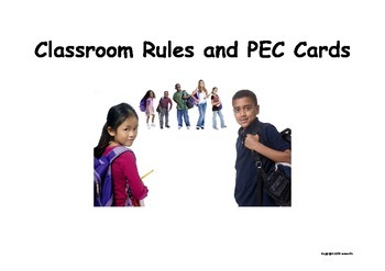 Early Childhood PEC Signs and Classroom Rules