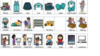 PEC strip classroom routine schedule