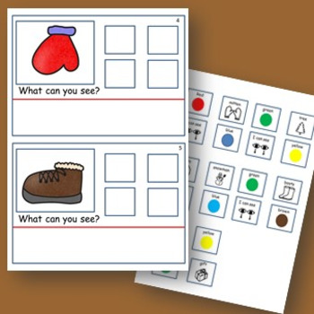 Winter Colours (Attributes) with detachable visuals - for Autism/Special Ed