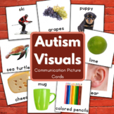 Vocabulary Cards for Speech Therapy, Autism Visuals Set 1
