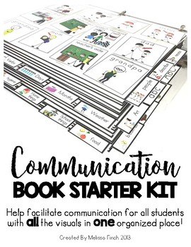 Communication Book/Board Starter Kit- For Autism & Special Needs Students