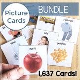 Printable Picture Card Bundle | PECS Autism Visuals, AAC, EI (Editable)