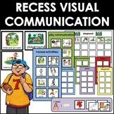 Recess Portable Communication Cards. Autism picture exchange.