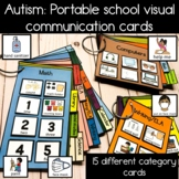 Visual Communication Cards and pictures for school math reading lunch