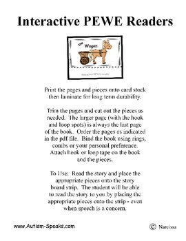 PECS Style Interactive PEWE Reader for the Letter A - Reading support