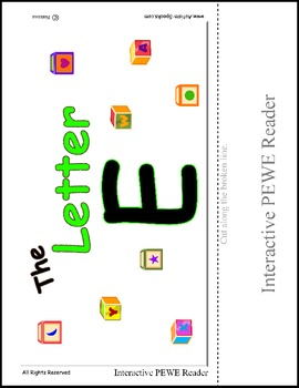 PECS Style Interactive PEWE Reader for the Letter E -  Reading support