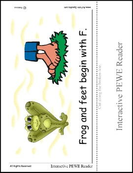 PECS Style Interactive PEWE Reader for the Letter F - Get all of the Books