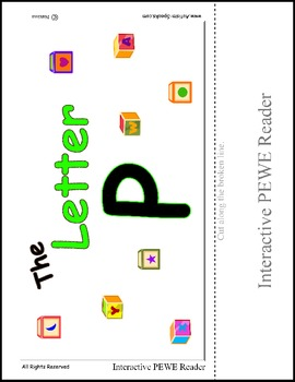 PECS Style Interactive PEWE Reader for the Letter P -  Reading support