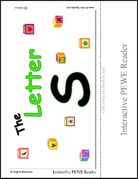 PECS Style Interactive PEWE Reader for the Letter S -  Reading support