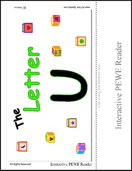 PECS Style Interactive PEWE Reader for the Letter U -  Reading support
