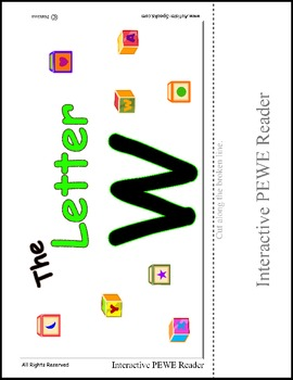 PECS Style Interactive PEWE Reader for the Letter W - SpEd Reading support