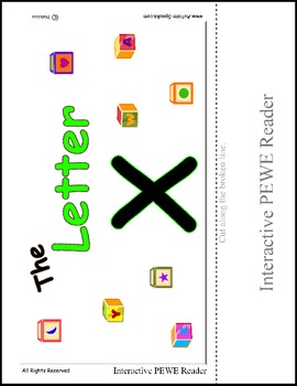 PECS Style Interactive PEWE Reader for the Letter X - Autism Reading support