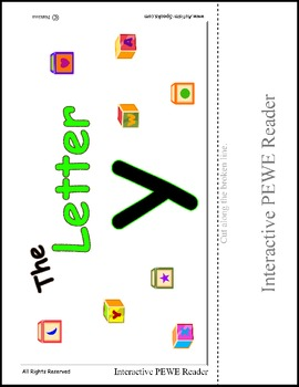 PECS Style Interactive PEWE Reader for the Letter Y - Reading Support for All