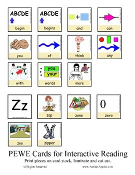 PECS Style Interactive PEWE Reader for the Letter Z - Reading Support for All