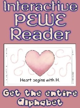 PECS Style Interactive PEWE Readers for letters A - M / 13 pdf printable books