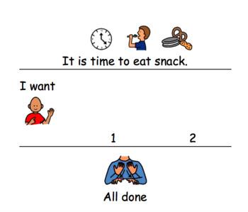 PECS Symbol Requesting Snack