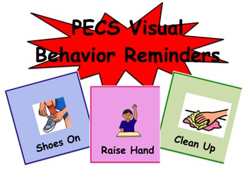 PECS Visual Behavior Reminders