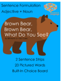Brown Bear, Brown Bear-Picture/Autism Support, Speech and Language