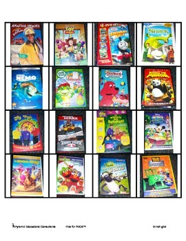 PECS movie choices 2 x 2