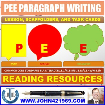 PEE TO COMMENT ON LANGUAGE OF TEXT: LESSON & RESOURCES