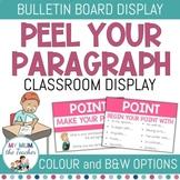 Writing: PEEL your Paragraph Bulletin Display Posters