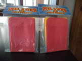 PEEL   STICK   BRITE POCKETS     (SET OF 50)