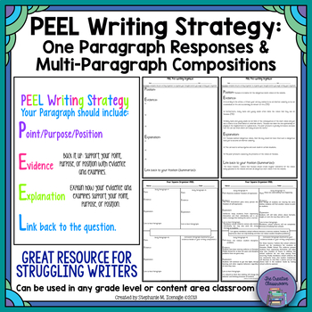 PEEL Writing Strategy: Short Responses and Multi-Paragraph Compositions