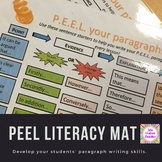 P.E.E.L. paragraphs literacy writing mat scaffold in history (PEEL)