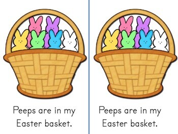 PEEPS Emergent Reader Easter Candy sight words color words