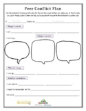 PEER CONFLICT PLAN (Bullying) (Fillable)