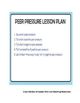 PEER PRESSURE LESSON PLAN