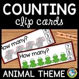 PRE K+KINDERGARTEN COUNTING ACTIVITIES: ANIMALS COUNTING C