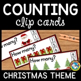 PRESCHOOL CHRISTMAS ACTIVITIES KINDERGARTEN (DECEMBER COUNTING CARDS)