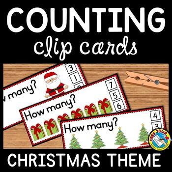 PRESCHOOL CHRISTMAS ACTIVITIES KINDERGARTEN (DECEMBER COUNTING CARDS)